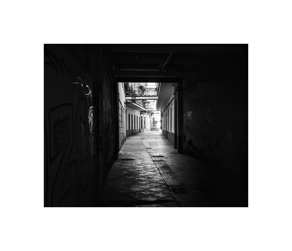 Sevilla, rue, clair-obscur